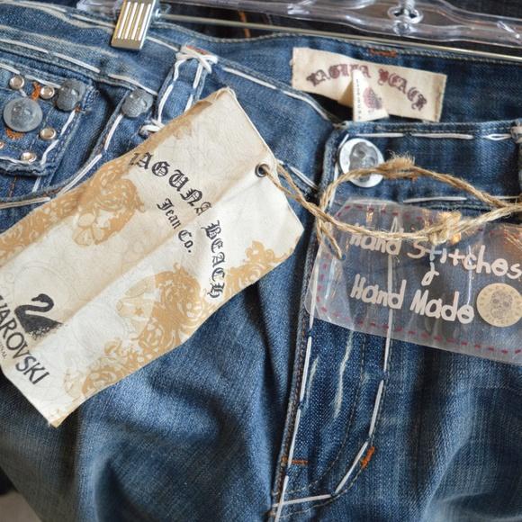 089454ceb75 Laguna Beach Swarovski Crystals Bling Jean Shorts